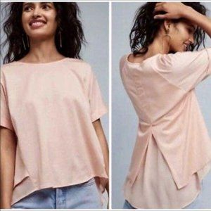 Anthropologie Blouse High Low Top NWT Size S